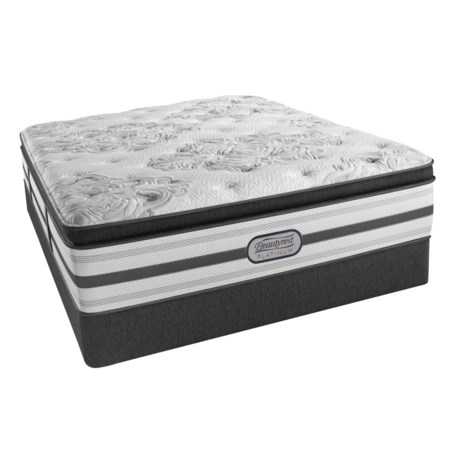 "Queen Luxury Firm Pillow Top 15"" Mattress and BR Platinum High Profile Foundation"