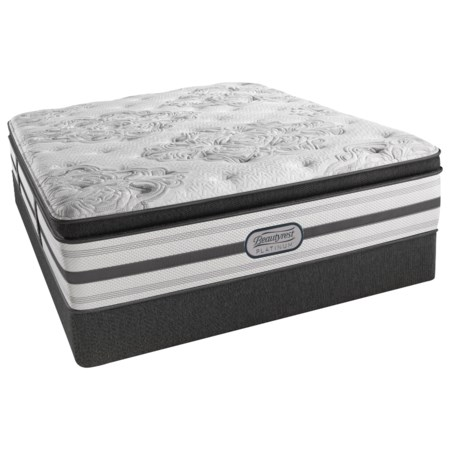"Cal King Plush Pillow Top 15"" Mattress and 5"" Low Profile Foundation"