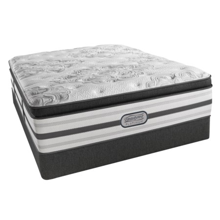 "Twin Extra Long Plush Box Pillow Top 16 1/2"" Mattress and BR Platinum Low Profile Foundation"