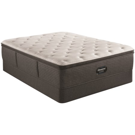 "King 16"" Medium Pillow Top Pocketed Coil Mattress and 9"" Foundation"