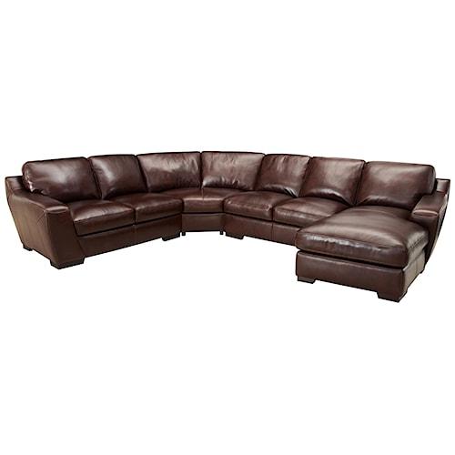 Simon li 6948 comfortable corner sectional sofa with right for Sectional sofa with right side chaise