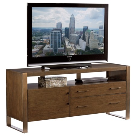 Contemporary Media Console with Adjustable Shelf