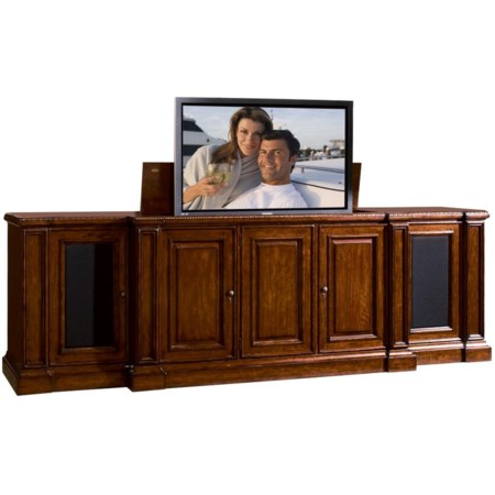 Lift-Top Entertainment Cabinet