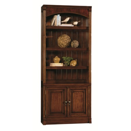 Traditional Bunching Bookcase with Adjustable Storage and Touch Lighting