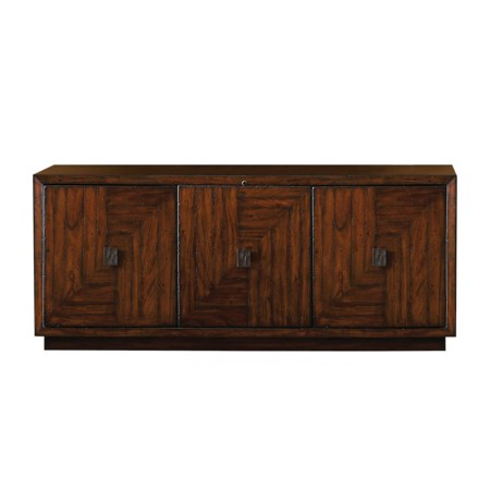 Transitional Rustic Summerton Media Console with Smart Eye Receiver