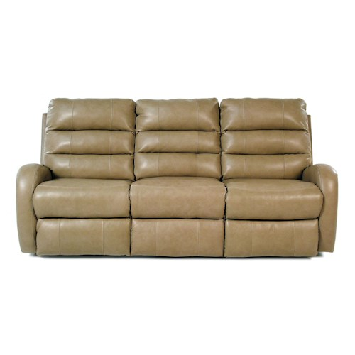 Design to recline sand creek reclining leather sofa for Sand leather sofa