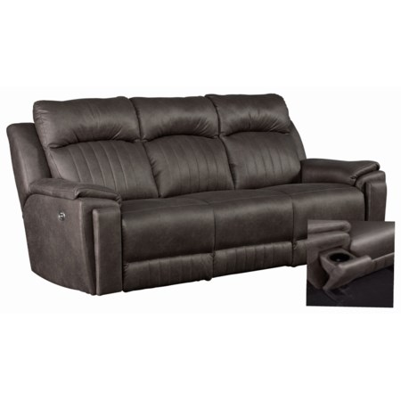 Contemporary Power Headrest Sofa with SoCozi Massage Technology