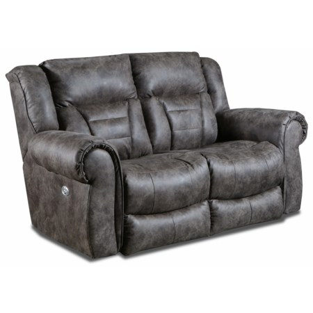 Casual Double Reclining Power Headrest Loveseat with SoCozi Technology