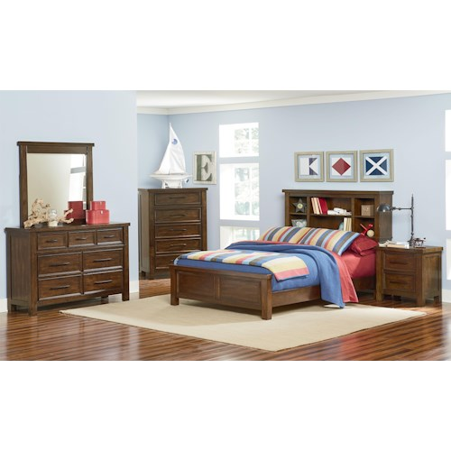 Standard Furniture Cameron Youth Full Bedroom Group With Bookcase Bed J Am