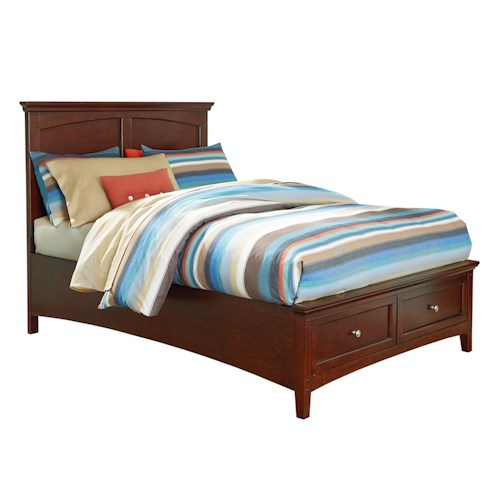 Standard Furniture Cooperstown Casual Full Bed With Storage Footboard Standard Furniture
