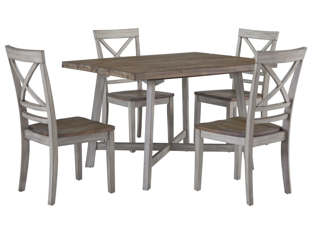 Completely new Standard Furniture Fairhaven 12862 Rustic Two-Tone Table and Chair  CG97