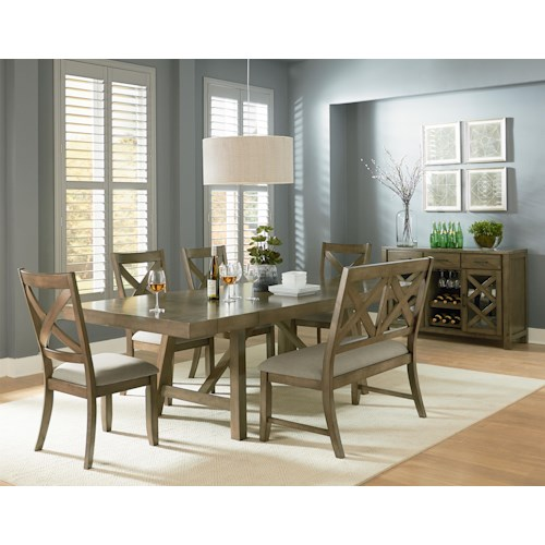 casual dining room group omaha grey by standard. Black Bedroom Furniture Sets. Home Design Ideas