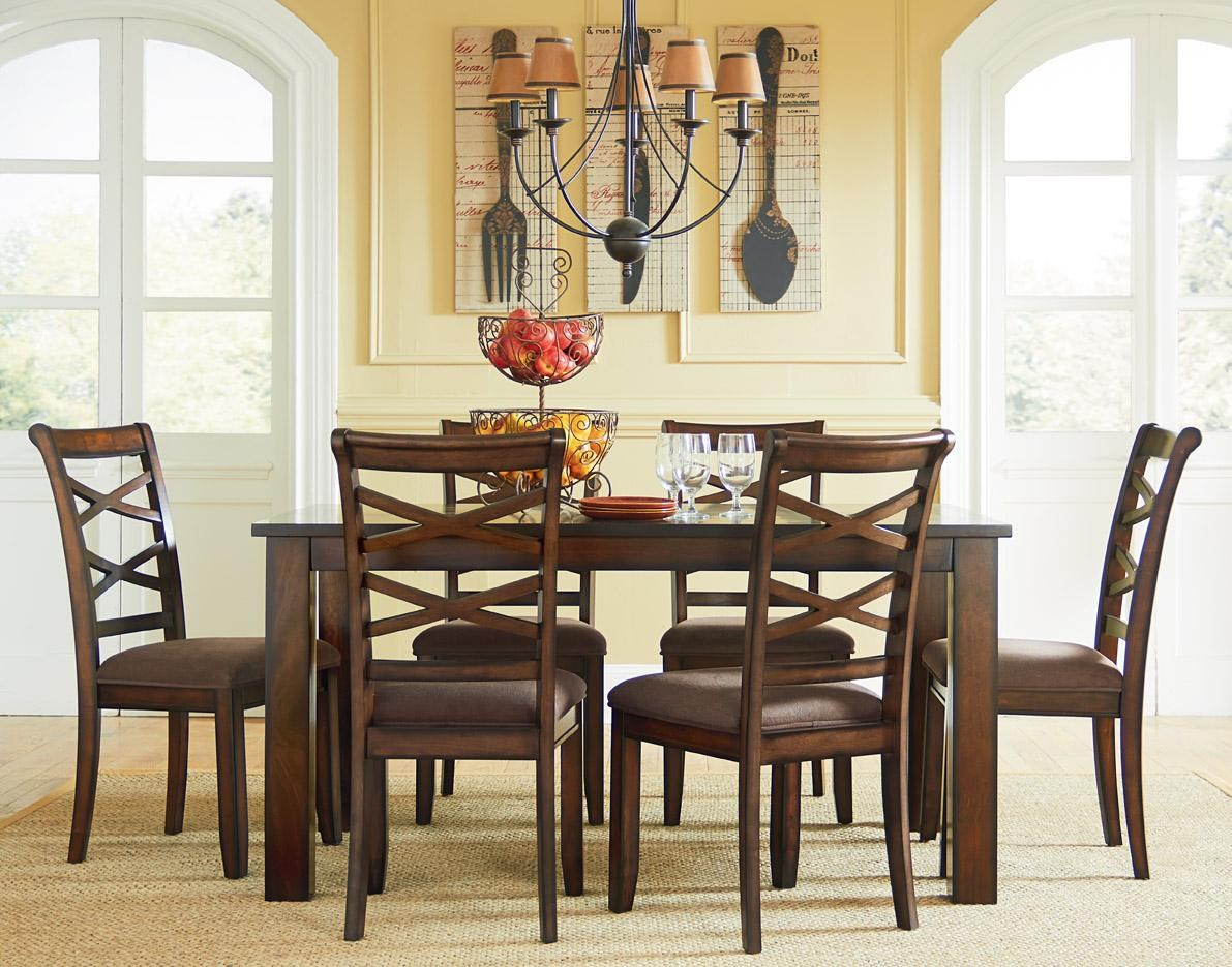 Zenith Dill Casual Transitional 7 Piece Dining Set EFO
