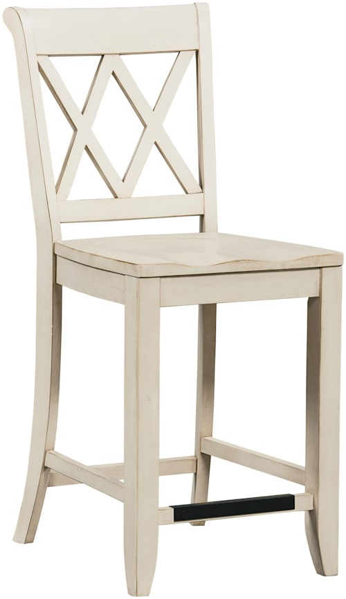 vanilla counter height stool with x back vintage by standard furniture wilcox furniture. Black Bedroom Furniture Sets. Home Design Ideas