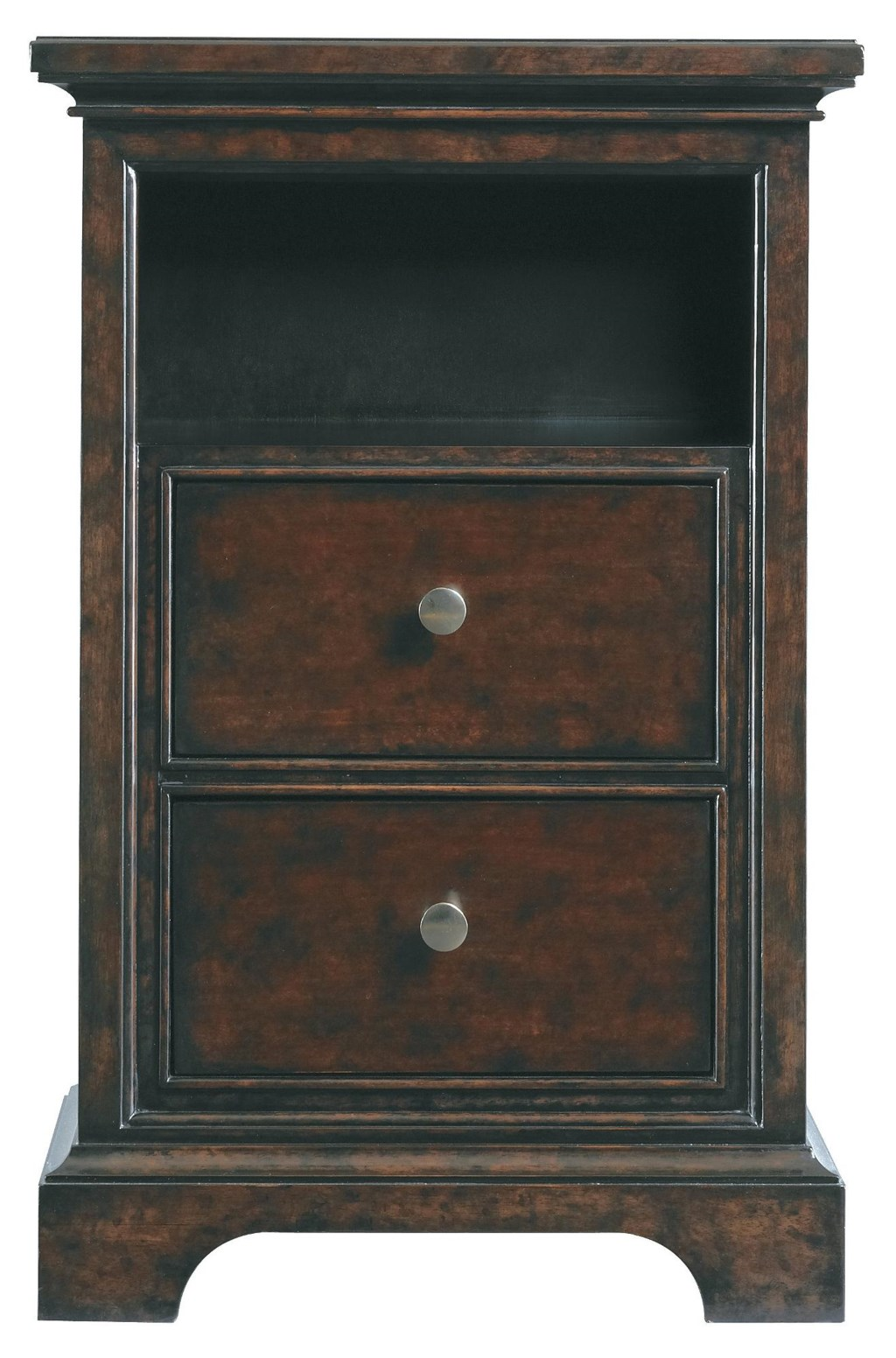 Brand-new Stanley Furniture Transitional Two Drawer Telephone Table Night  AS97