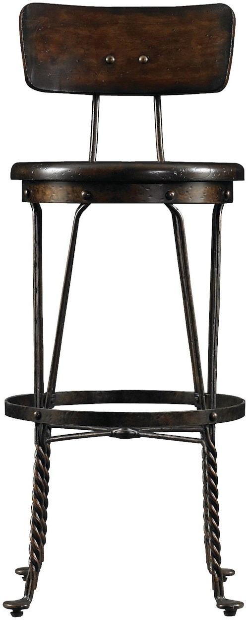 Stanley furniture european farmhouse artisan 39 s apprentice barstool sprintz furniture bar Home bar furniture nashville tn