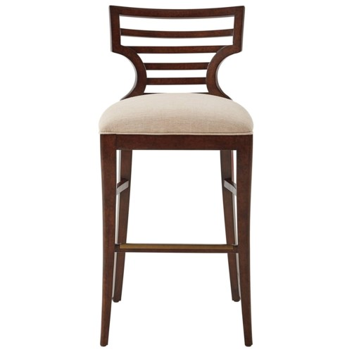 Stanley Furniture Virage Barstool With Upholstered Seat