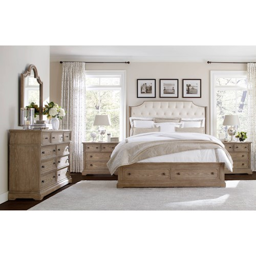 Stanley furniture wethersfield estate queen bedroom group for Bedroom furniture groups