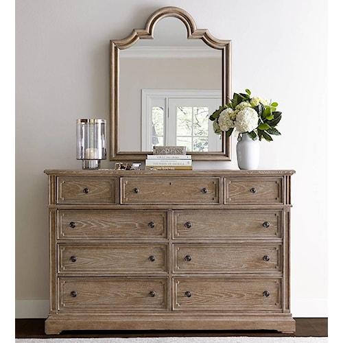 Stanley furniture wethersfield estate dresser with flip for Furniture 0 down