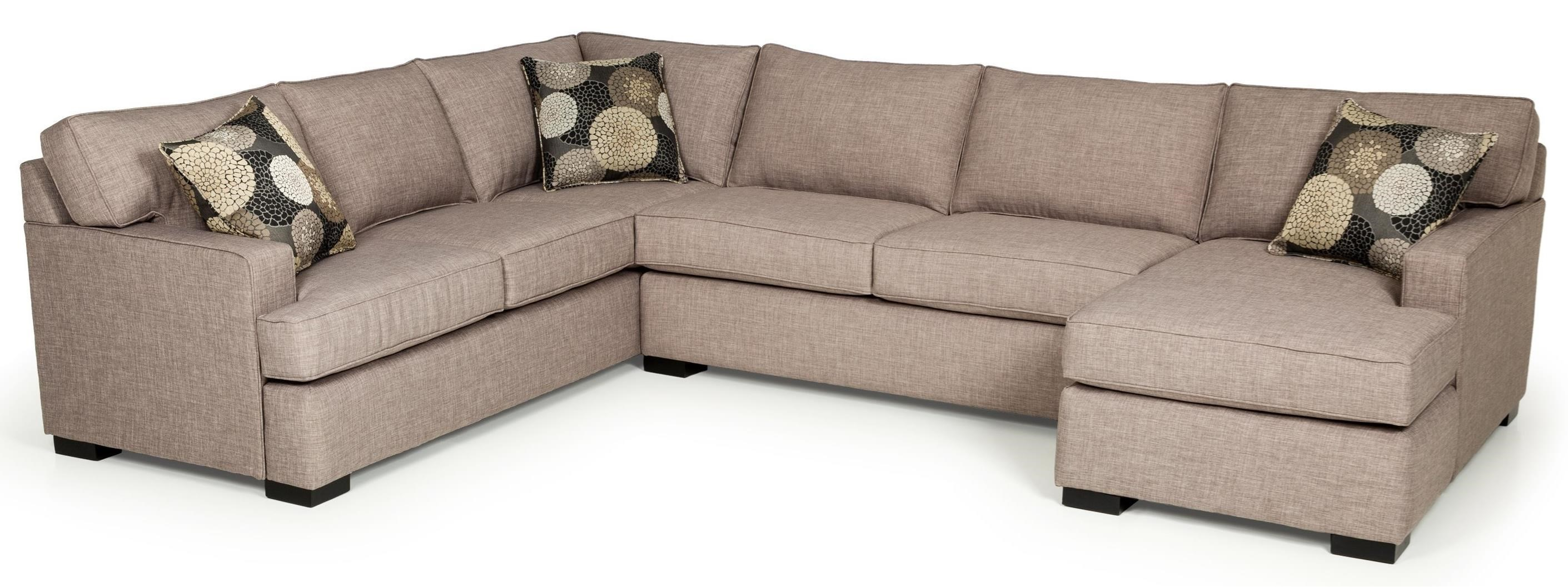 Stanton 146 Contemporary Three Piece Sectional Sofa With