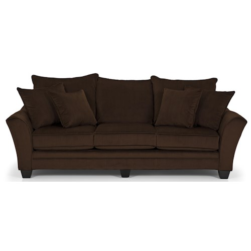 Stanton 456 stanton transitional sofa with scatter pillow for Furniture 0 down