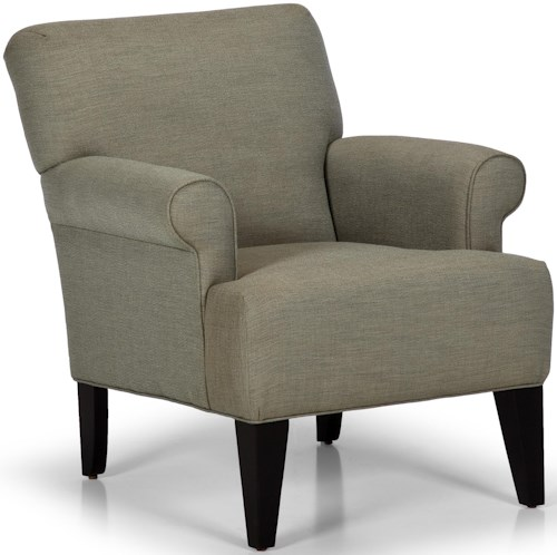 Stanton Accent Chairs And Ottomans Contemporary Accent Chair With Tall Tapered Legs Rife 39 S