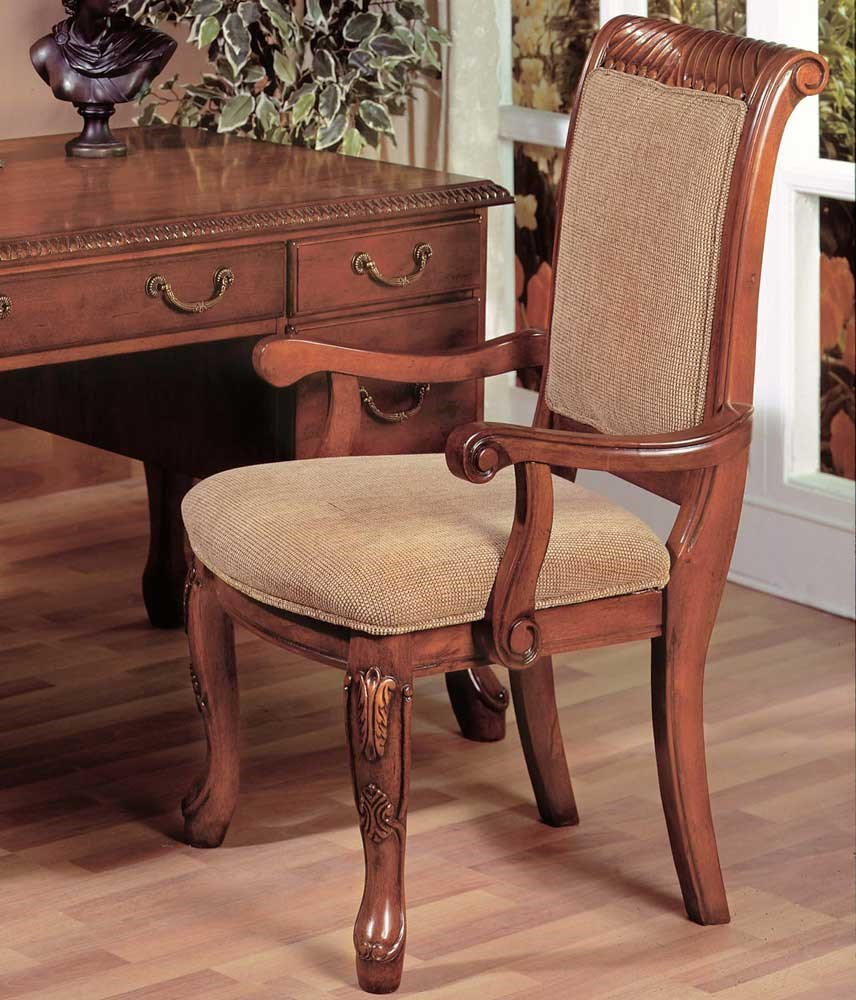 Star Harmony Traditional Upholstered Seat Dining Arm Chair