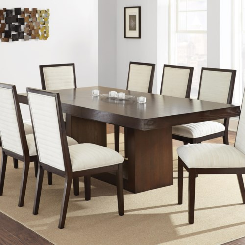 Brand new Steve Silver Antonio Dining Table with Contemporary Pedestal Base  BB47