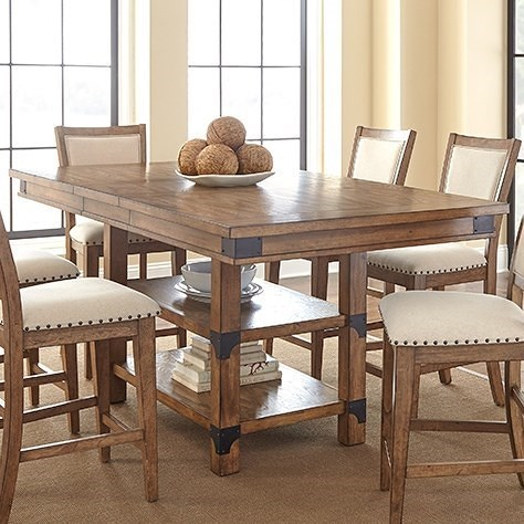 Steve silver britta industrial counter height table with for Multi use dining room ideas