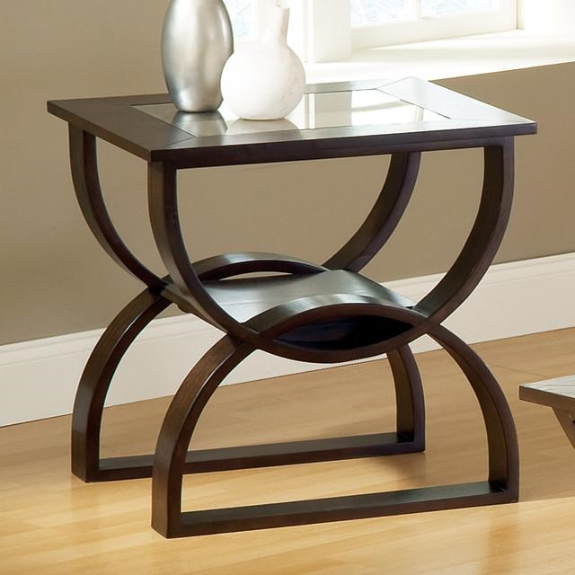 Star Dylan Square End Table with Curved Base EFO
