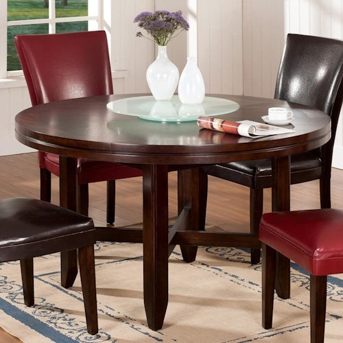 Steve silver hartford 52 round contemporary dining table for Table 52 private dining