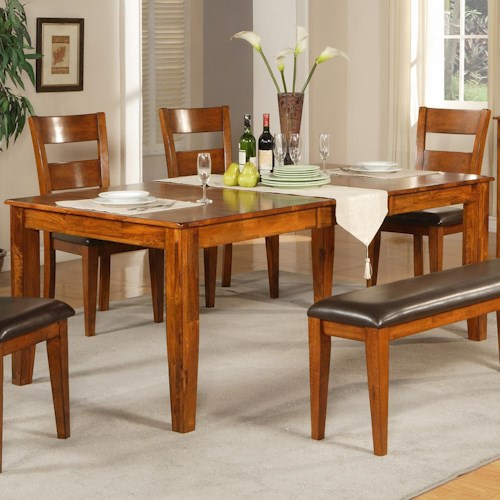 Steve Silver Mango Rectangular Leg Table Wilson 39 S Furniture Kitchen T