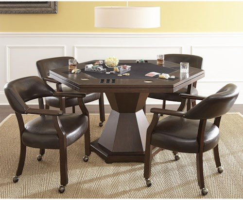 Steve silver morris game table dining set northeast for Furniture 0 percent financing