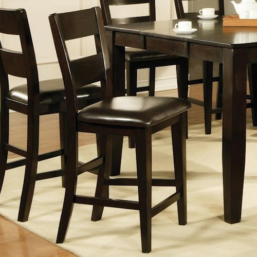 Steve silver victoria victoria ladder back counter chair for Dining room tables victoria