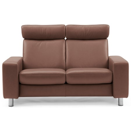 Contemporary High-Back Reclining Loveseat