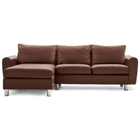 Contemporary Reclining 2-Seat with Long Seat Sectional