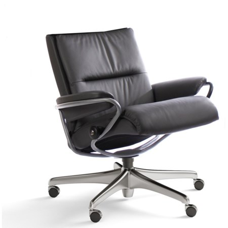 Contemporary Low Back Office Chair with Star Base