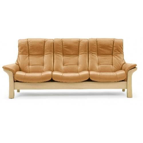 stressless by ekornes stressless buckingham high back leather reclining sofa boulevard home. Black Bedroom Furniture Sets. Home Design Ideas