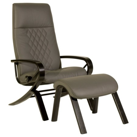 Michael Reclining Chair & Ottoman with Aluminum Base
