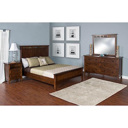 Sunny designs santa fe california king bedroom group sparks homestore home furnishings for Sunny designs bedroom furniture