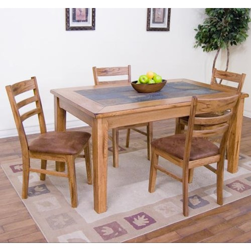 Sunny designs sedona 5 piece 36 x 60 slate top for Dining room table 60 x 36