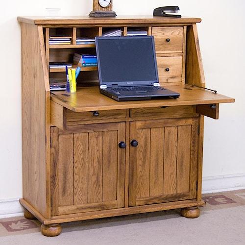 Sunny Designs Sedona Drop Leaf Laptop Desk Armoire