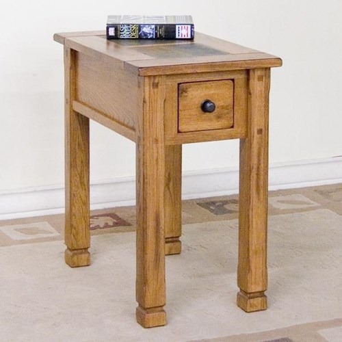 Sunny designs sedona chair side table with slate conlin for End tables for sale near me