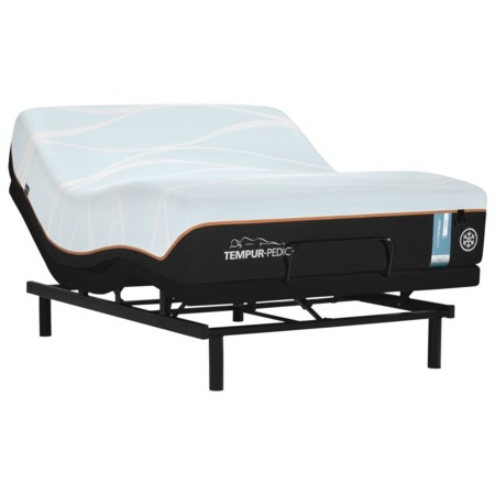 Cal King Firm Tempur Material Mattress and Ease 3.0 Adjustable Base
