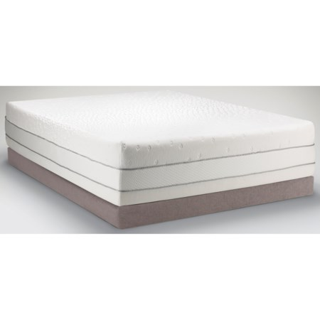 Queen Medium Firm to Soft Mattress and Low Profile Tempur-Flat Grey Foundation