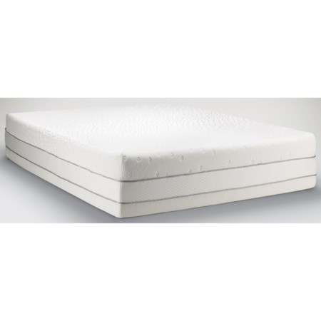 King Medium Firm to Soft Mattress and Tempur-Up Adjustable Grey Foundation