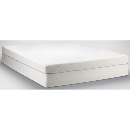 King Firm to Medium Soft Mattress and Low Profile Grey Foundation
