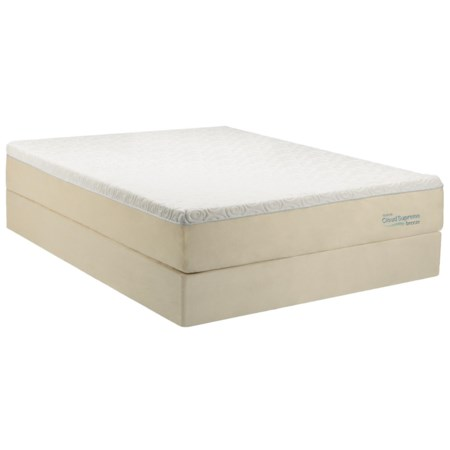 Queen Soft Mattress and Ecru High Profile Foundation