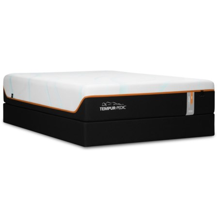 """Twin Extra Long 13"""" Firm Luxury Mattress and Tempur-Flat High Profile Foundation"""