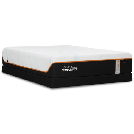 """Twin Extra Long 13"""" Firm Luxury Mattress and Tempur-Flat Low Profile Foundation"""